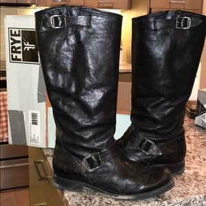 Frye Veronica Slouch Black Tall Boot